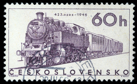 Stamp printed in Czechoslovakia showing the  photo