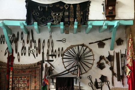 Interior of Arabic coffee bar, Sousse, Tunisia photo