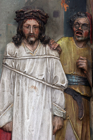 condemned: 1st Stations of the Cross, Jesus is condemned to death