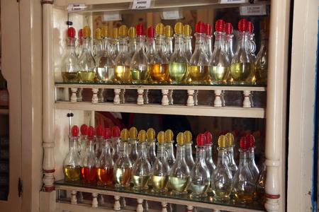 souq: Perfume bottles at souq  market  medina of Sousse ? Tunisia Stock Photo