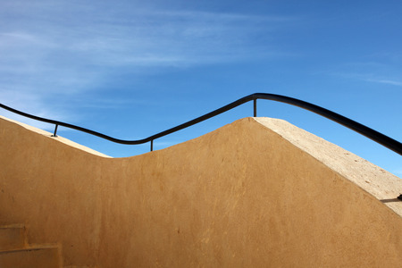 matmata: Handrail, modern touristic fort near Matmata, Tunisia