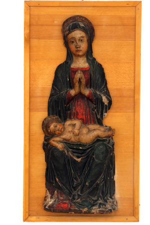 Blessed Virgin Mary with baby Jesus Stock Photo