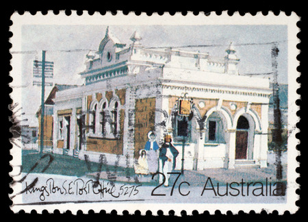 Stamp printed in AUSTRALIA shows the Historic Australian Post Offices, Kingston Southeast, series, circa 1982