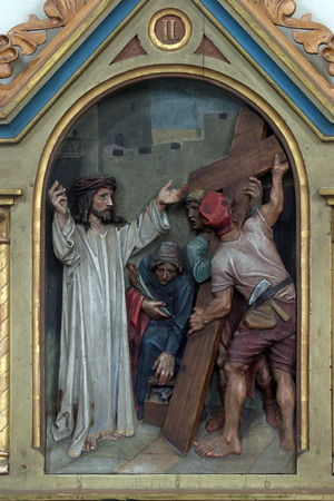 dolorosa: 2nd Stations of the Cross, Jesus is given his cross Editorial