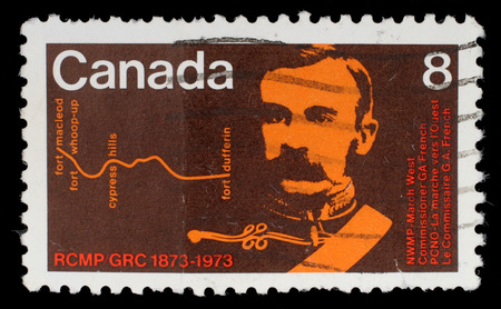 commissioner: Stamp printed by Canada, shows Commissioner G  A  French, circa 1973