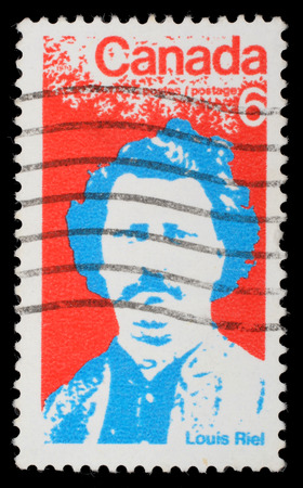 riel: Stamp printed by Canada, shows Louis Riel, circa 1970
