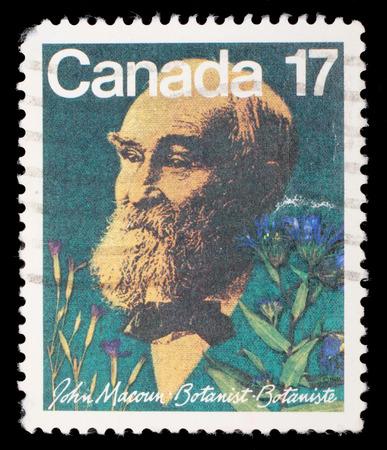 botanist: Stamp prointed in Canada shows botanist John Macoun, circa 1981 Editorial