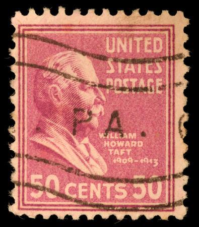 Stamp printed in United States  Displays William Howard Taft  United States - circa 1938