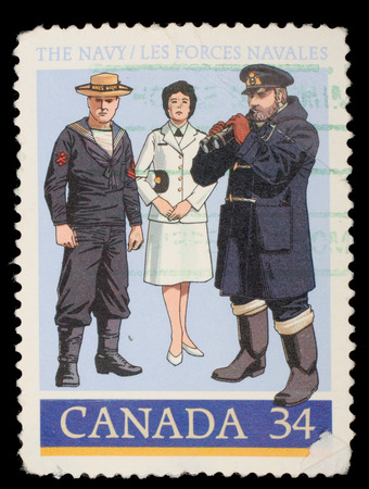 Stamp printed by Canada, shows 1910 Gunner