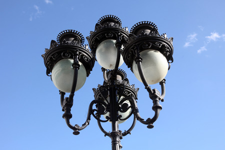cast iron: Antique cast iron lampost, Tunis