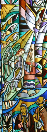Angel Gabriel, stained glass