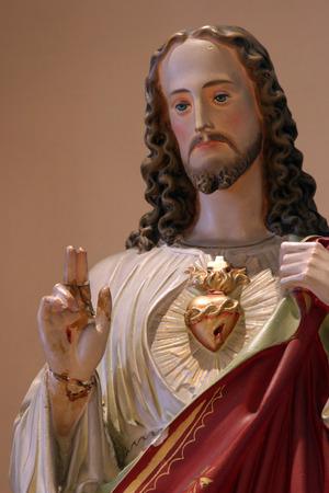 homily: Sacred Heart of Jesus Stock Photo