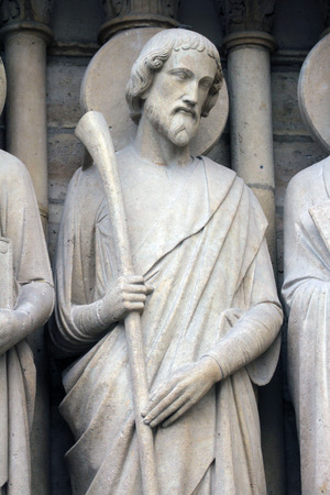 Saint James the Less, Notre Dame Cathedral, Paris, Last Judgment Portal photo