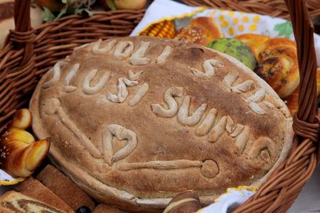 Delicious homemade Christmas bread photo