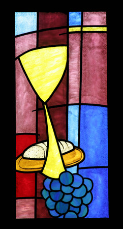 stained glass windows: Eucharist