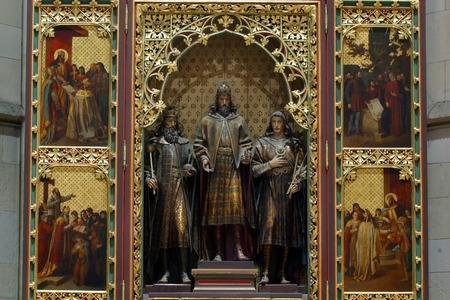 zagreb: Altar in Zagreb cathedral Editorial