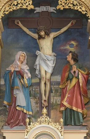 homily: Crucifixion, Blessed Virgin Mary and Saint John under the cross