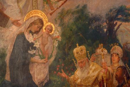 Escena de la Natividad, la Adoración de los Reyes Magos Editorial