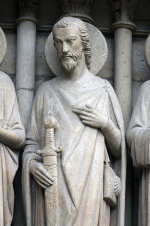Saint James the Great, Notre Dame Cathedral, Paris, Last Judgment Portal photo