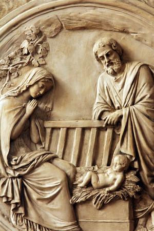 Nativity Scene , Saint Etienne du Mont Church, Paris  photo