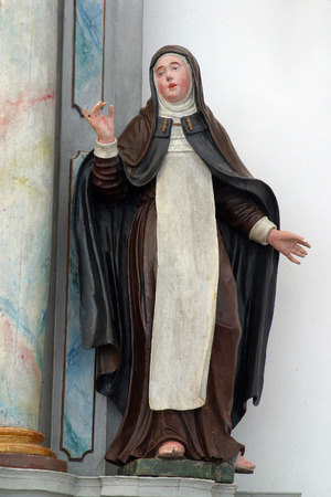 patron of europe: Statue of saint