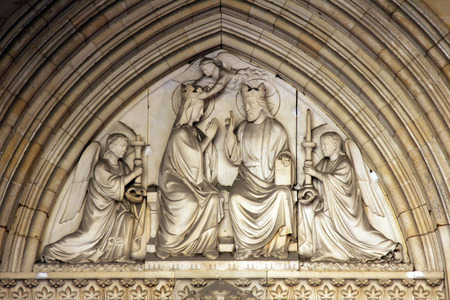 Sainte Chapelle tympanum Marys coronation photo