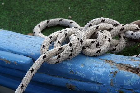 Rope of boat knotting photo