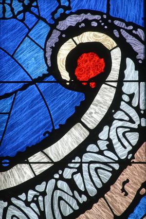스테인드 글라스 교회 창 스톡 콘텐츠