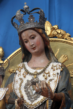 iconography: Our Lady of Pag Stock Photo