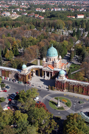 Mirogoj cemetery in Zagreb - Croatia photo