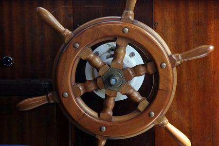timon de barco: Piloto para buques Foto de archivo