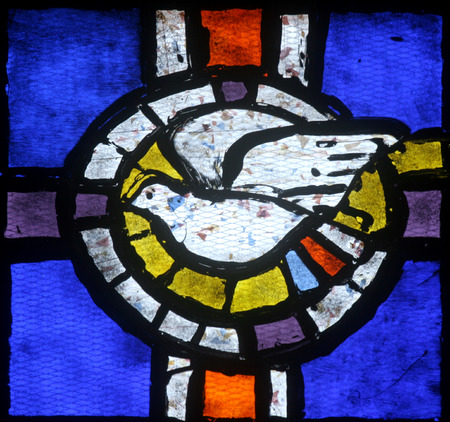 Holy Spirit Bird, stained glas