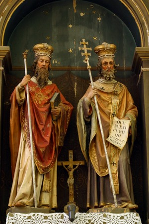 homily: Statue of Saints Cyril and Methodius