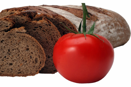 baguet: Bread with tomato