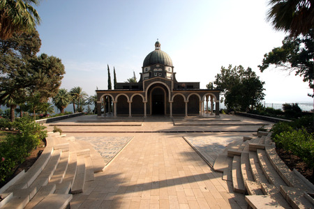 The Church Of The Beatitudes was built on a hill overlooking the Sea of Galilee and is the accepted site where Jesus preached the Sermon on the Mount. Editorial
