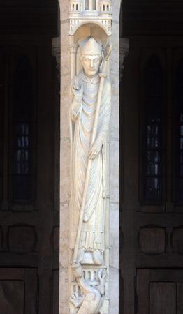 Saint Marcel, Notre Dame Cathedral, Paris, Portal of St. Anne