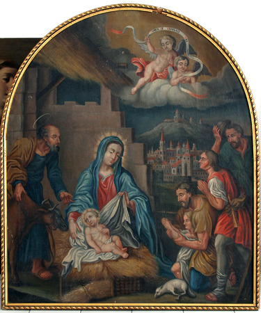 Nativity Scene, Adoration of the Shepherds Editorial
