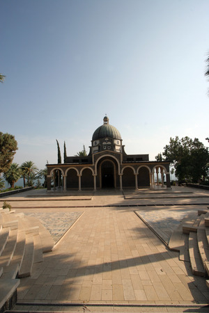 preached: The Church Of The Beatitudes was built on a hill overlooking the Sea of Galilee and is the accepted site where Jesus preached the Sermon on the Mount