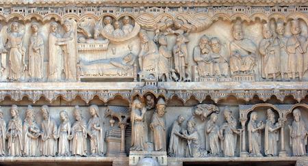 anne: Notre Dame Cathedral, Paris, Portal of St  Anne