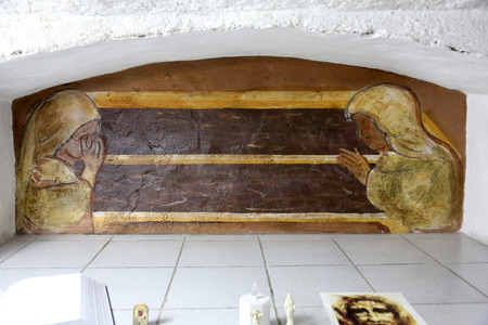 barbaric: The tomb of the Servant of God Peter Barbaric in the Church of St. Aloysius in in Travnik, Bosnia and Herzegovina on June 11, 2014.