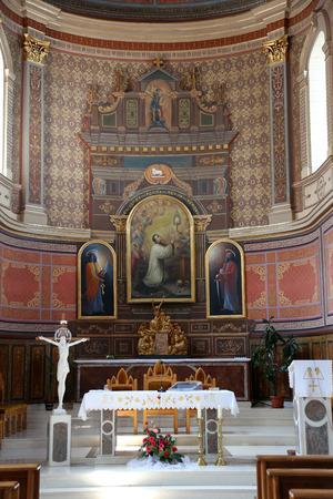 sainthood: Main altar in the Church of St. Aloysius in Travnik, Bosnia and Herzegovina on June 11, 2014.