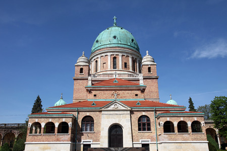 Church of Christ the King, Mirogoj graveyard in Zagreb - Croatia