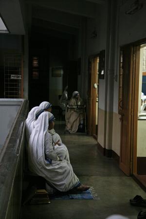 kolkata: Sisters of The Missionaries of Charity of Mother Teresa at Mass in the chapel of the Mother House, Kolkata, India at January 30, 2009. Editorial