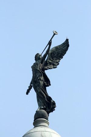 memorabilia: Angel of victory atop the dome of Victoria Memorial, Kolkata, India Stock Photo