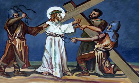 第 2 の十字架、イエスは自分の十字架を与えは