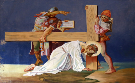 7th Stations of the Cross, Jesus falls the second time Editorial