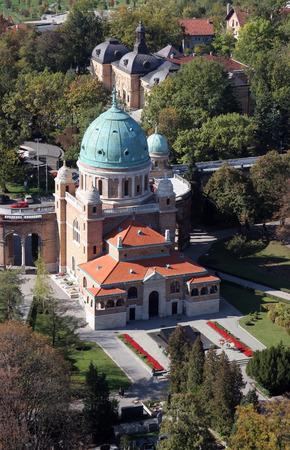 Mirogoj cemetery in Zagreb. Croatia. photo