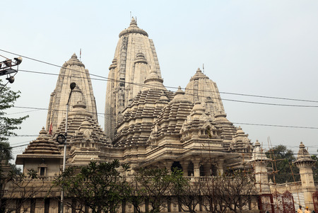 nagara: Birla Mandir (Hindu Temple) in Kolkata, West Bengal in India as seen on Feb 15, 2014. It is one of the largest Hindu temples in Kolkata.