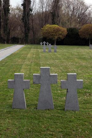 burried: German Military Graves, Mirogoj graveyard in Zagreb - Croatia