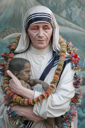 Mother Teresa statue in Prem Dan house, Kolkata